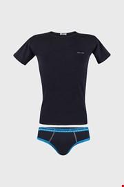 Син комплект за момчета от слипове и тениска