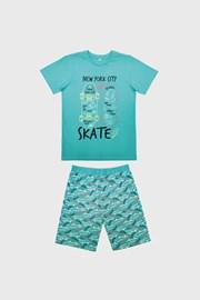 Светлосиня пижама за момчета Skate
