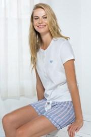 Дамски домашен комплект бяло-син
