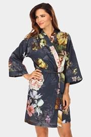 Дамски халат Essenza Home Fleur тъмносин