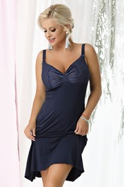 Дамска нощничка Gina Navy blue