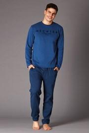 Мъжка пижама синя