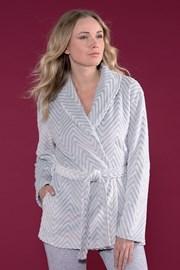 Дамски халат Must Have сив