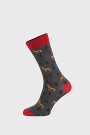 Тъмносиви чорапи Deer