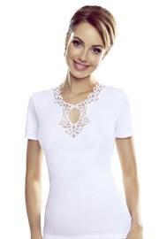 Дамска бяла блуза Leila