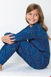 Синя пижама за момичета Jednorožec