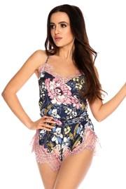 Дамска сатенена пижама Elen къса