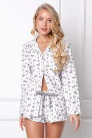 Дамска фланелена пижама Serene къса