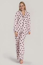 Дамска пижама DKNY Festive Beast розова