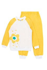 Пижама за момичета Flower Yellow