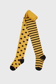 Чорапогащник за момичета жълта точка