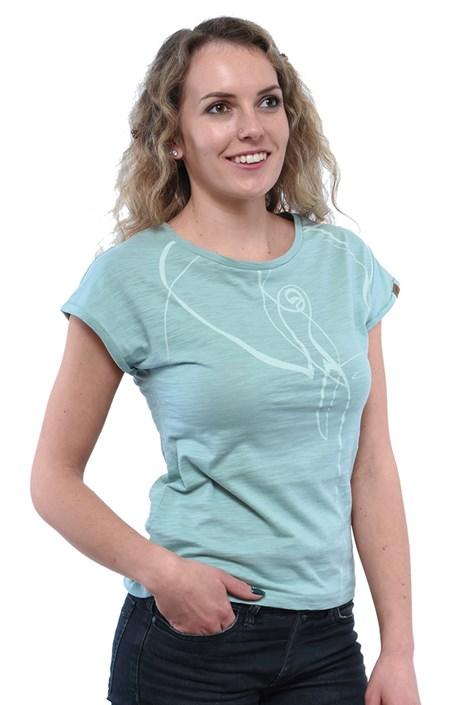 Дамска зелена тениска Bushman Kira