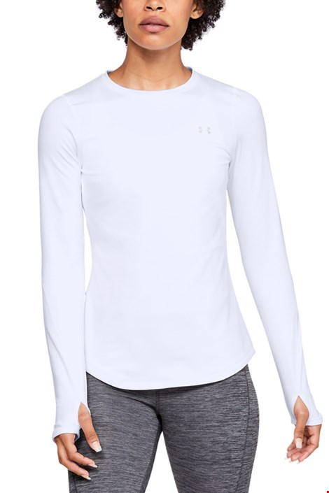Бяла спортна блуза Under Armour Crew