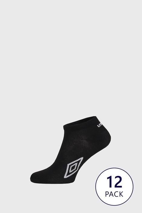 12 PACK черни чорапи до глезена Umbro
