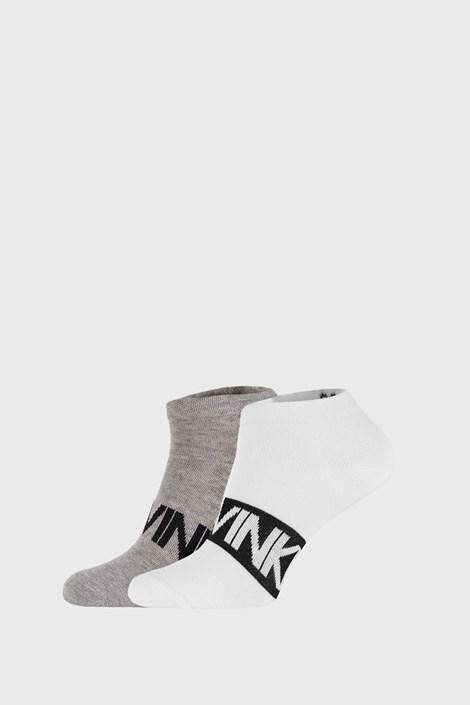 2 PACK сиво-бели чорапи Calvin Klein Dirk