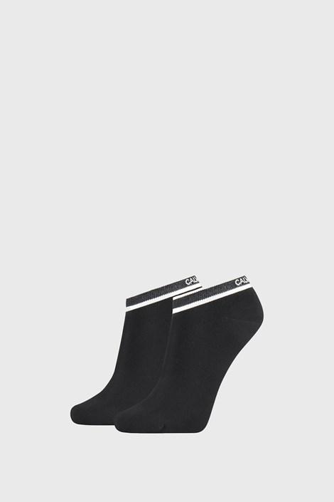 2 PACK черни дамски къси чорапи Calvin Klein Spencer