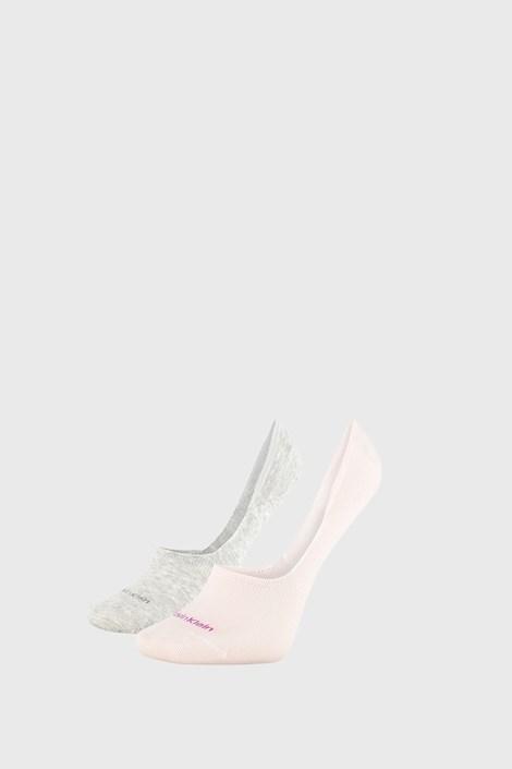 2 PACK сиво-розови дамски чорапи Calvin Klein Jessica