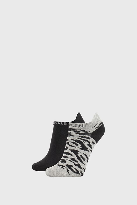2 PACK сиво-черни дамски чорапи Calvin Klein Libby