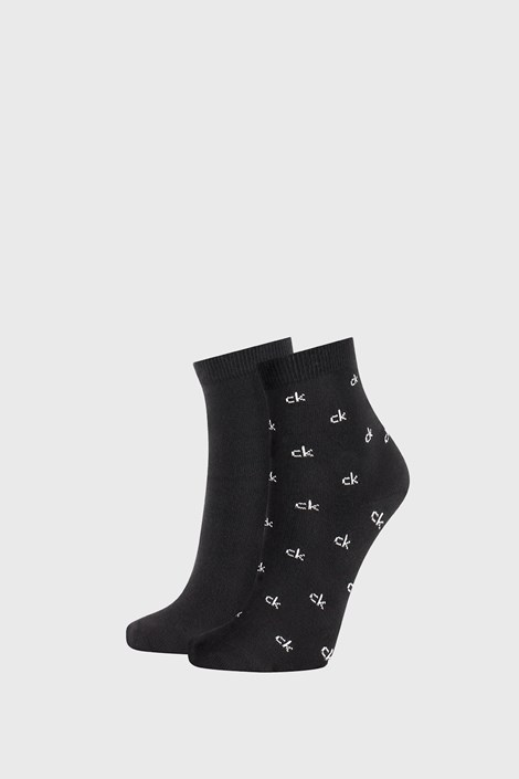 2 PACK дамски черни чорапи Calvin Klein Gretchen