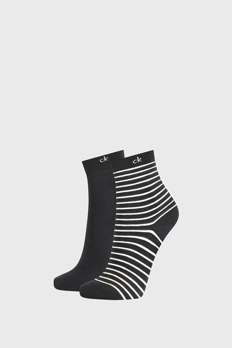 2 PACK черни дамски чорапи Calvin Klein Lilly