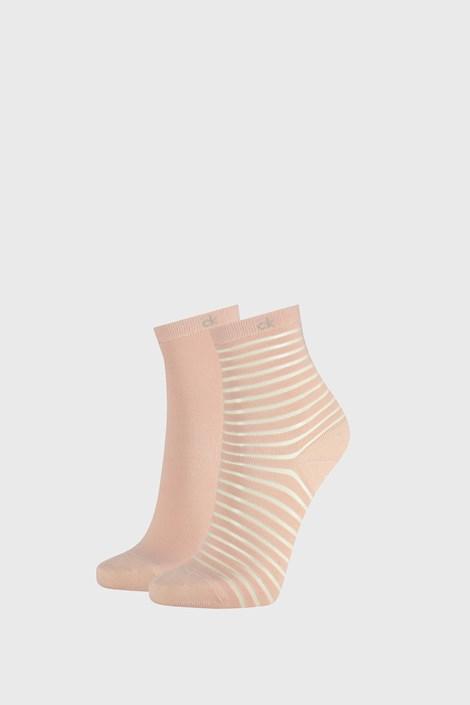 2 PACK розови дамски чорапи Calvin Klein Lilly