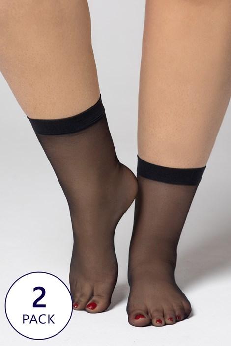2 PACK силонови къси чорапи Plus Size 20 DEN