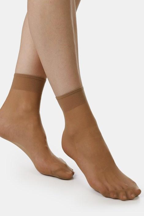 2 PACK силонови къси чорапи EVONA Silver 20 DEN