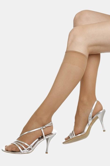 2 PACK силонови чорапи до под коляното EVONA Silver 20 DEN