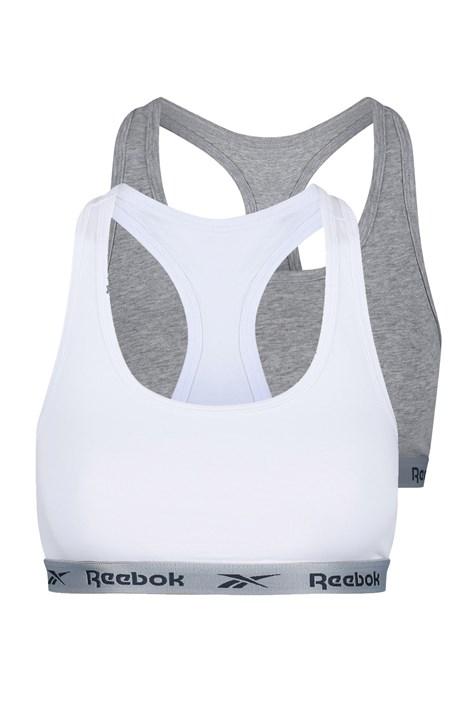 2 pack дамски кроп топове Reebok сиво-бял