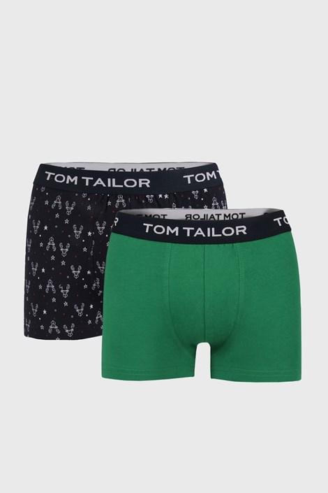 2 PACK синьо-зелени боксерки Tom Tailor