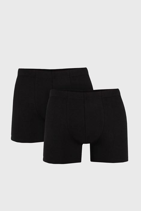 2 PACK черни боксерки Uomo Cotton