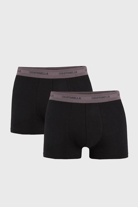 2 PACK сиво-черни боксерки Uomo Comfort