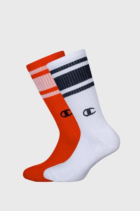 2 pack дълги чорапи оранжево и бяло Champion