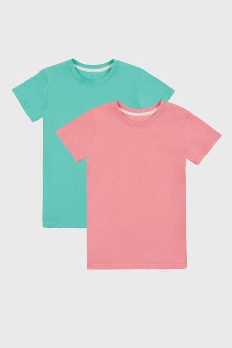 2 PACK basic тениски за момичета