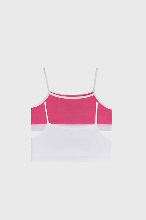 2 PACK розово-бели basic топове за момичета