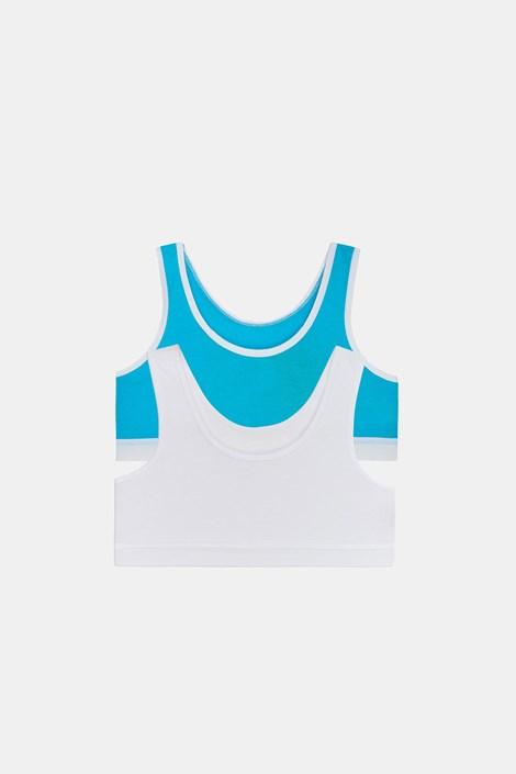 2 PACK синьо-бели basic топове Crop