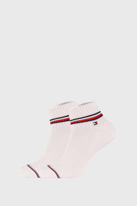 2 PACK бели чорапи до глезена Tommy Hilfiger Iconic