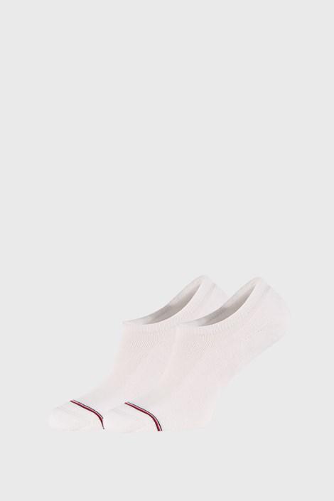 2 PACK бели къси чорапи Tommy Hilfiger Iconic
