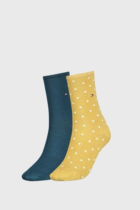 2 PACK жълти дамски чорапи Tommy Hilfiger Dot