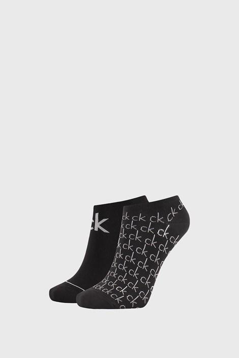2 PACK дамски черни чорапи Calvin Klein Callie