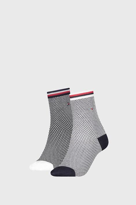 2 PACK дамски чорапи Tommy Hilfiger Honeycomb Navy