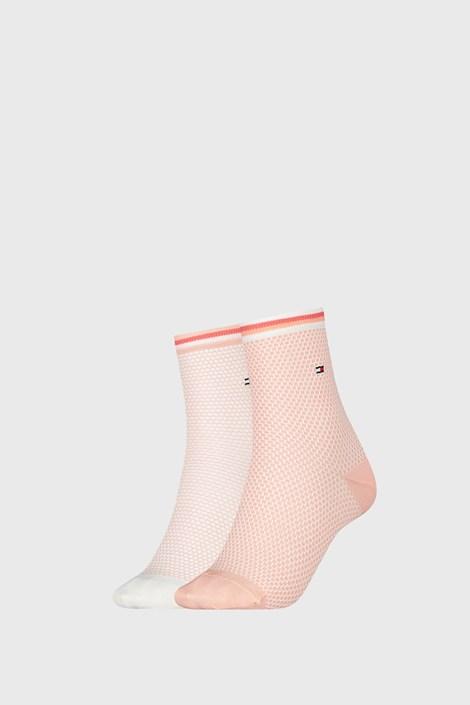 2 PACK дамски чорапи Tommy Hilfiger Honeycomb Coral