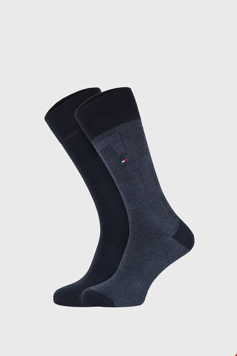 2 PACK тъмносини чорапи Tommy Hilfiger Rib