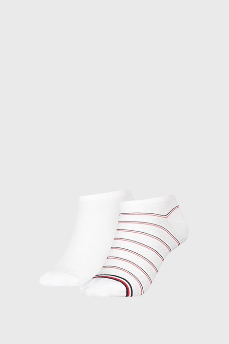 2 PACK дамски чорапи Tommy Hilfiger Preppy White