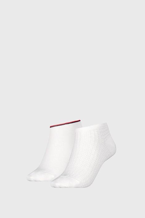2 PACK дамски чорапи Tommy Hilfiger Waffle White