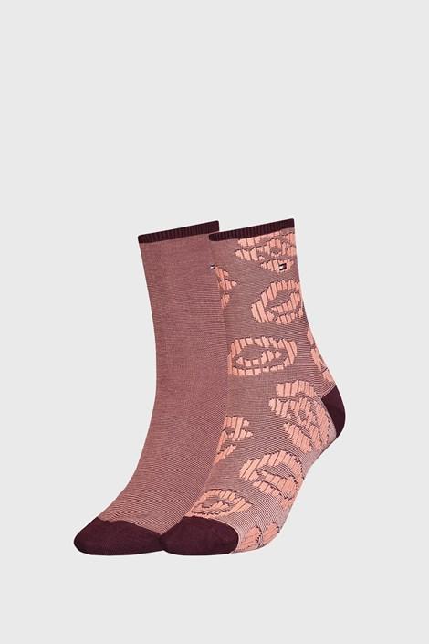 2 PACK дамски кафяви чорапи Tommy Hilfinger Flower