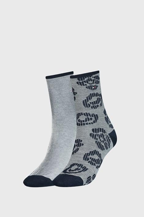 2 PACK сини дамски чорапи Tommy Hilfiger Flower