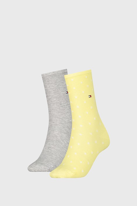 2 PACK дамски чорапи Tommy Hilfiger Dot Yellow