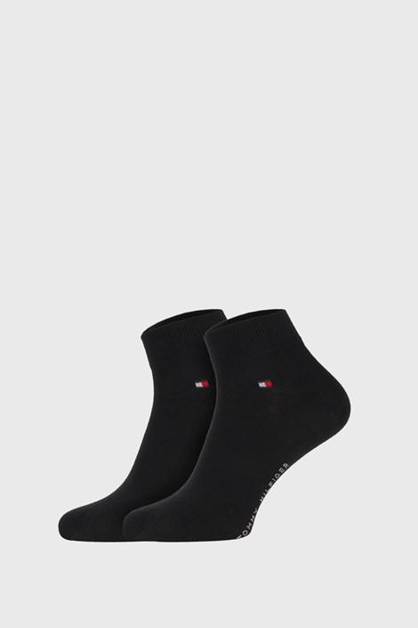 2 PACK черни чорапи Tommy Hilfiger Quarter