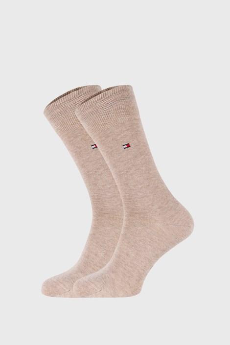 2 PACK бежови чорапи Tommy Hilfiger Classic